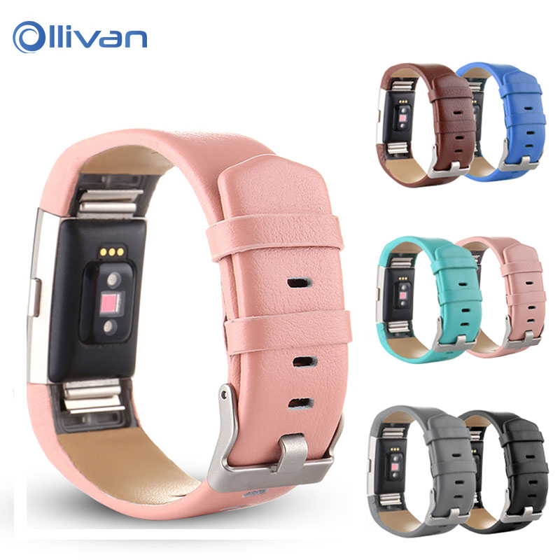 Original Leather Strap For Fitbit Charge 2 Bracelet Replacement Band For Fitbit Charge 2 Strap Heart Rate Monitor Wristband Belt