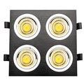 12 Вт/20 Вт/28 Вт COB светодиодный потолочный светильник квадратная Встраиваемая сетка Лампа Приспособление для гостиной черный/серебристый ко...