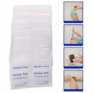Image 2 - New 100 Pcs/Box Alcohol Wipe Pad Medical Swab Sachet Antibacterial Tool Cleanser