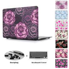Flowers rose Gorgeous elegant peony print Case For Apple macbook Air Pro Retina 11 12 13