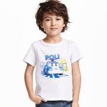 2017 New Cartoon Car Arrival summer Girls boys t-shirts thomas friends Children Baby kids clothes cotton short sleeve t-shirt