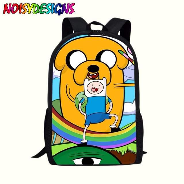 3032e03b1c5f placeholder 16Inch Adventure Time Finn and Jake Kids Backpack Boys Girls  School Bags Daily Children Bookbag Shoulder