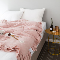 Solid Pink Quilted Quilt Bedding Throws Air Condition Summer Comforter Twin Queen Blankets for Adults Kids Patchwork Bed Covers