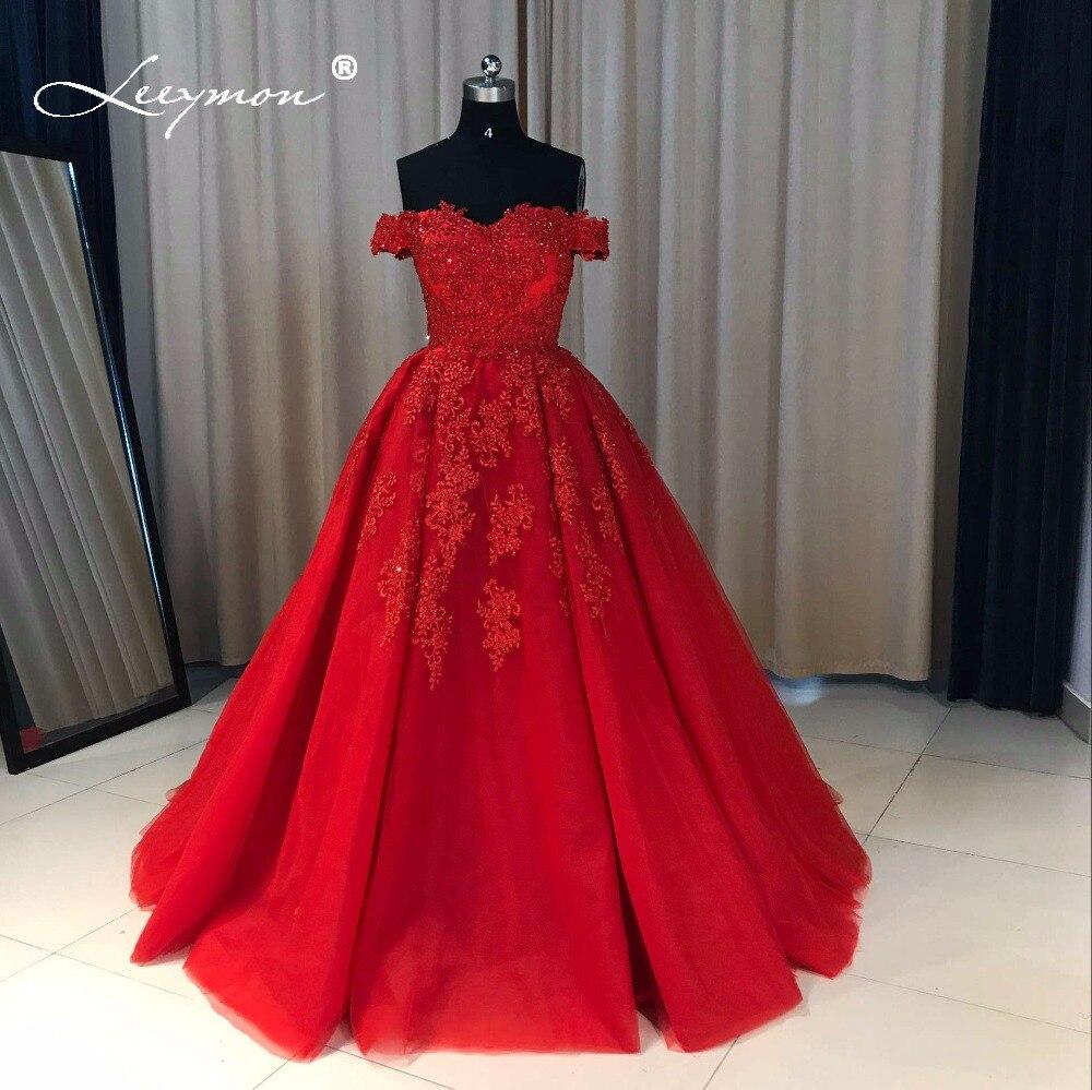 Realni uzorci Luksuzni izvan ramena Heavy Beaded Lace Ball Gown - Haljina za posebne prigode - Foto 5