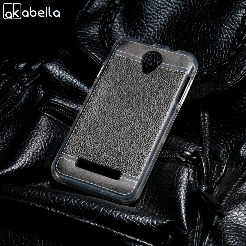 AKABEILA Phone Cover Cases For Fly Fly IQ4415 quad Era Style 3 IQ 4415 4.5 inch Covers Phone Bag Soft TPU Litchi Case Skin