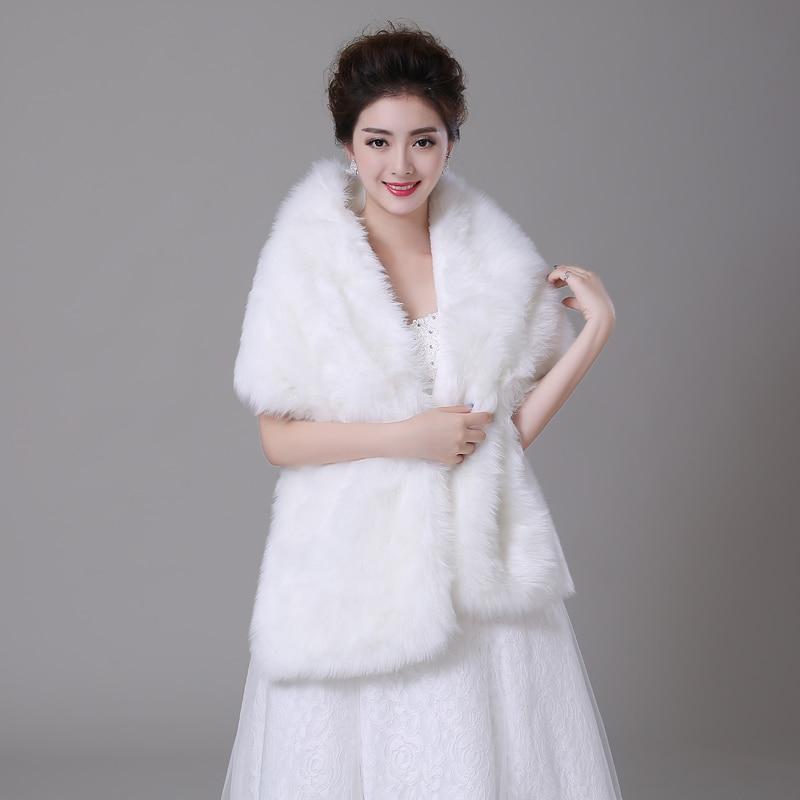 Hot sale faux fur shrug black wedding shawl stole wrap cape wedding accessories bridal wrap in - Polsterstoffe fur stuhle ...