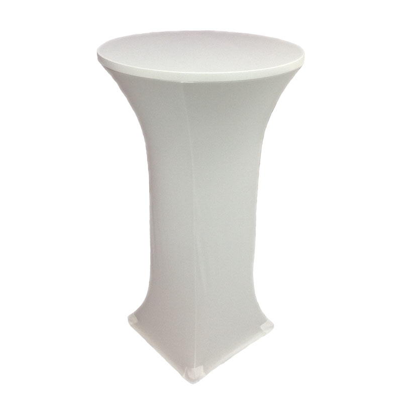 1pcs Quality White Lycra Cocktail table cover For Wedding Decoration Colored Cocktail Table cloth for wedding event party decor