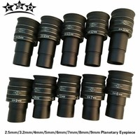 2.5mm/3.2mm/4mm/5mm/6mm/7mm/8mm/9mm SWA 58 Degree TMB Planetary II Eyepiece Wide Angle Telescope Astronomic Accessories 1.25