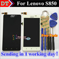 High Quality Touch Screen Digitizer + LCD Display Replacement For Lenovo S850 Cellphone 5.0 inch 1280*720 Black White Free Gifts