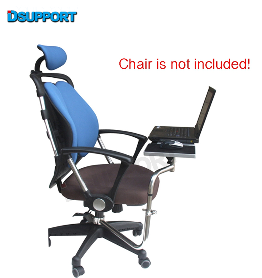 OK030 Multifunctional Full Motion Chair Clamping Keyboard Support Laptop Desk Holder Mouse Pad for Comfortable Office andGame