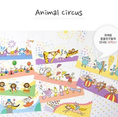 10packs/lot New cute polaroid circus photo frame sticker note deco ...