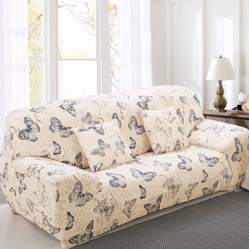 Elastische Sofa Cover Bedrukte Bloemen Slipcover Tight Wrap All-inclusive Hoekbank Cover Stretch Furniture Covers 1/2/3/4 seater