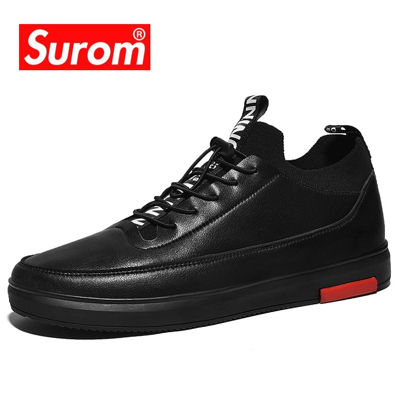Espadrilles Black En Cuir Lacets Chaussure Respirant Sneakers Caoutchouc Chaussures De Décontractées Semelles Noir Homme Surom À Microfibre Hommes eWrCoBdx