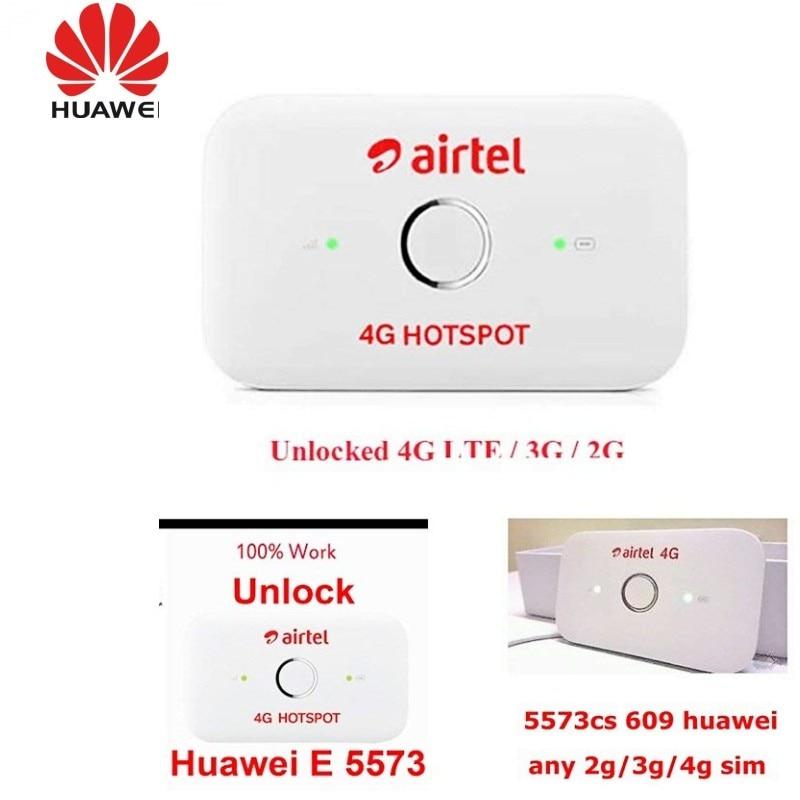 US $32 3 15% OFF|Original Unlock Huawei E5573 E5573Cs 609 Portable LTE FDD  Mobile Wifi 150Mbps 4G LTE Wireless Router, PK E5372 E5577-in 3G/4G Routers