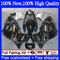 decal+  For SUZUKI 750F 03 04 05 06 07 KATANA Glossy black C#29 GSXF600 2003 2004 2005 2006 2007 GSXF 600 750 Fairing Silvery