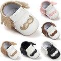 6 Cores Crianças Bebê Recém-nascido Prewalker PU Franja De Couro Anti-slip Calçados Infantil Menina Da Criança Menino Mocassins Macios Primeiros caminhantes