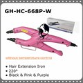 Temperature Constant Fusion Hair Iron / Connector GH-HC-668P-W Pink Color Free Shipping