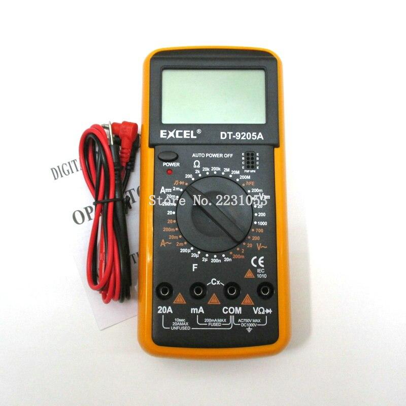 DT9205A AC DC LCD Display Professionelle Elektrische Handheld Tester Meter Digital-Multimeter Multimetro Amperemeter Multitester