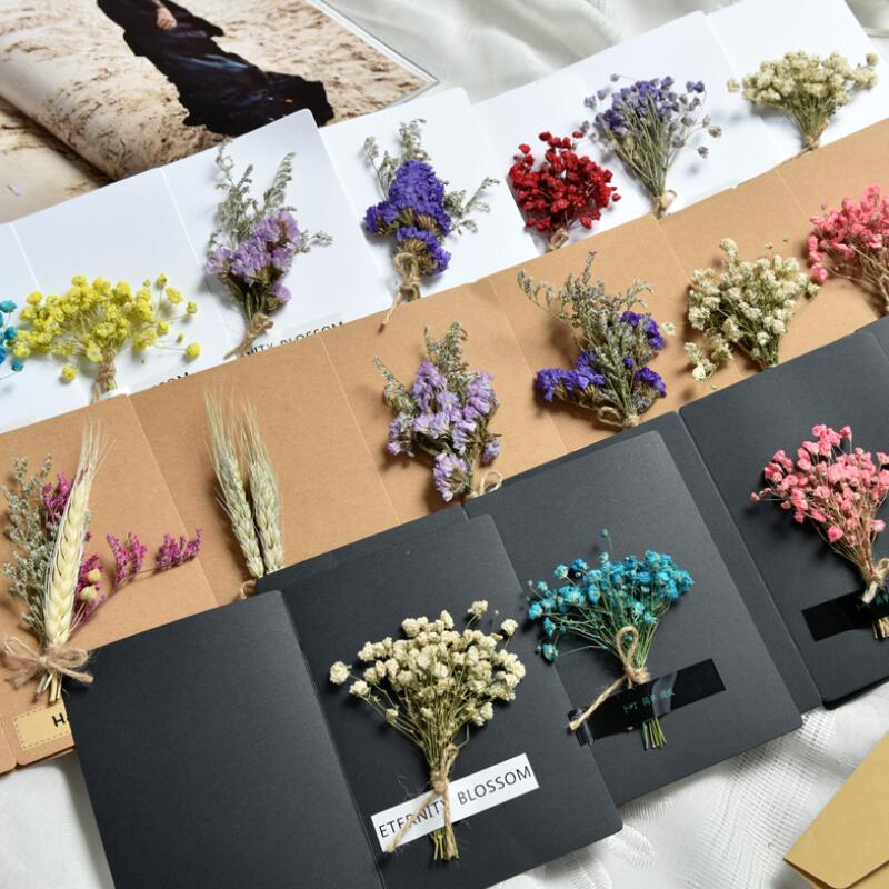 20 pcslot diy handmade three dimensional dried flowers