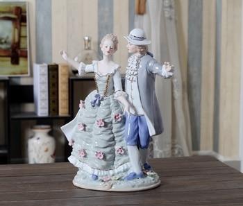 European Antique Porcelain Couple Ceramic Figurine 2