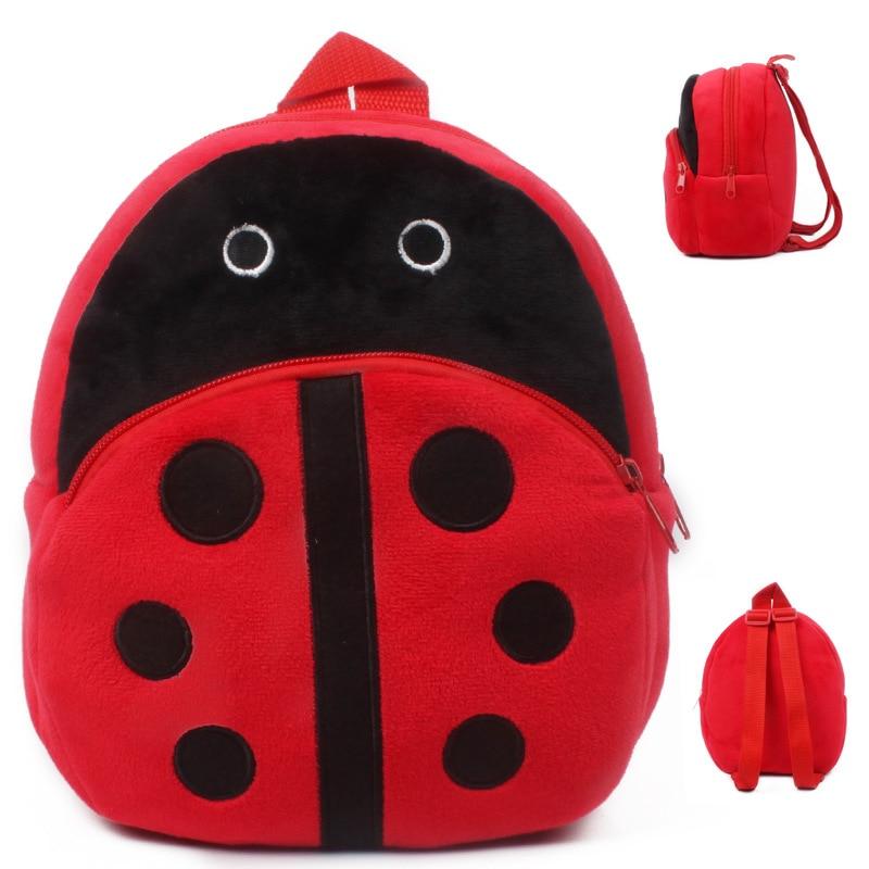 Ladybug Mini Schoolbag Baby Backpack Mochila Children's Shool Bags Kids Plush Backpack For Birthday Christmas Gift