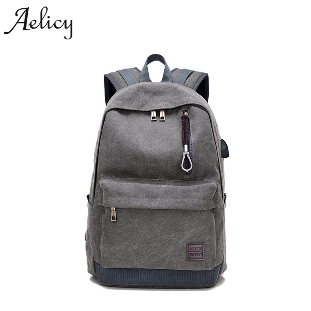 Aelicy Design USB External Laptop Backpacks Canvas Rucksack Backpacks Luxury Travel Backpack Boy Girls School Bags mochilaAelicy Design USB External Laptop Backpacks Canvas Rucksack Backpacks Luxury Travel Backpack Boy Girls School Bags mochila