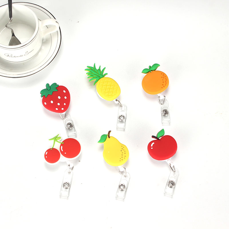 2017 New Design Nurse Retractable Badge Reel Pull ID Card 3D Fruit Vegetables Badge Holder Belt Clip Hospital School Office стоимость