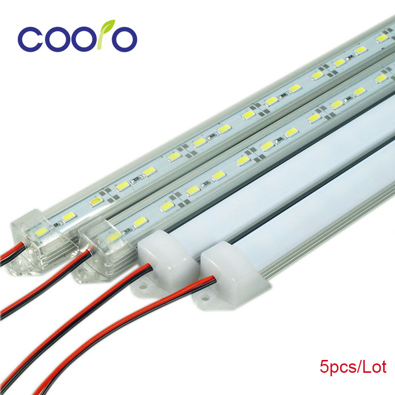 Lampu Bar LED Putih Hangat Putih Dingin Putih DC12V 5630 5730 LED LED Strip Tube dengan U Aluminium Shell + Penutup PC 5pcs / lot