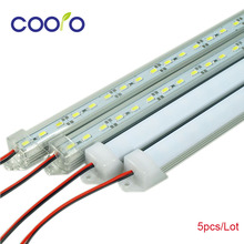 LED Bar Lights White Warm White Cold White DC12V 5630 5730 LED Strip LED Tube with U Aluminium Shell + PC Cover 5pcs/lot