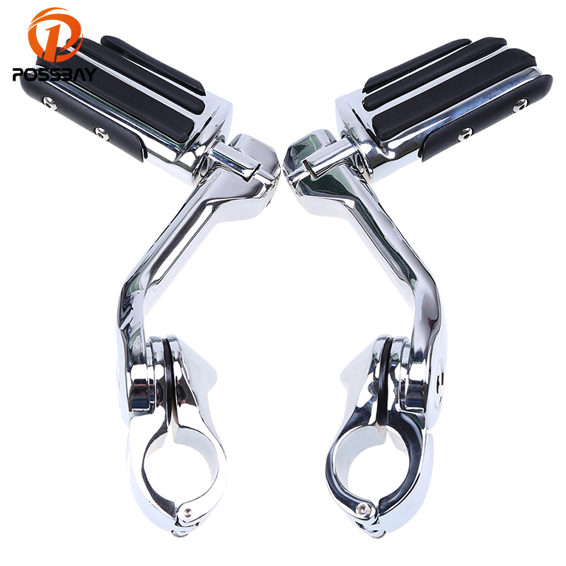 POSSBAY Foot Pegs Motorcycle Long Adjustable Highway for Harley Glide Touring Sportster 883 1200 Scooter Foot Peg Footrest накладной светильник eglo vento 2 96365