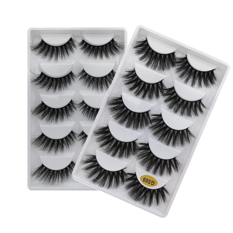 5 Pairs Mink Eyelashes Makeup Lashes Natural Long False Eyelash Dramatic Faux Eye Lashes For Make Up Mink Cilios Lash Maquiagem