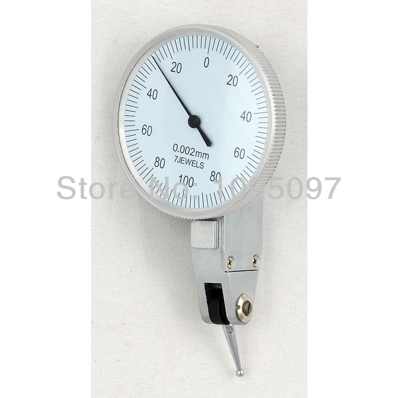 Image 2 - 0 0.2mm Lever Dial Test Indicator Precision Dial Indicator Lever Dial gauge 0.002mm  dial test  holder indicator-in Dial Indicators from Tools