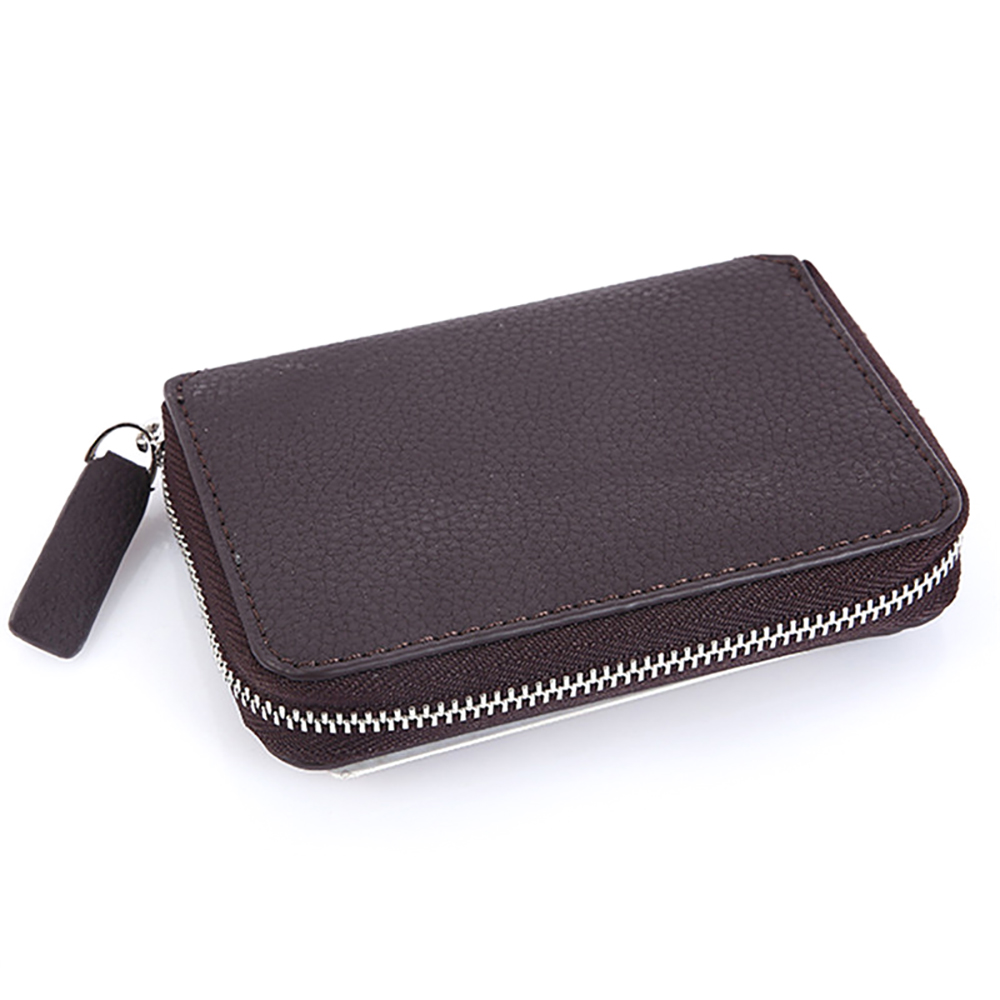 Wallet Purses Coin-Bag Litchi Zippers High-Quality Luxury for Men with Trendy Men's Credit