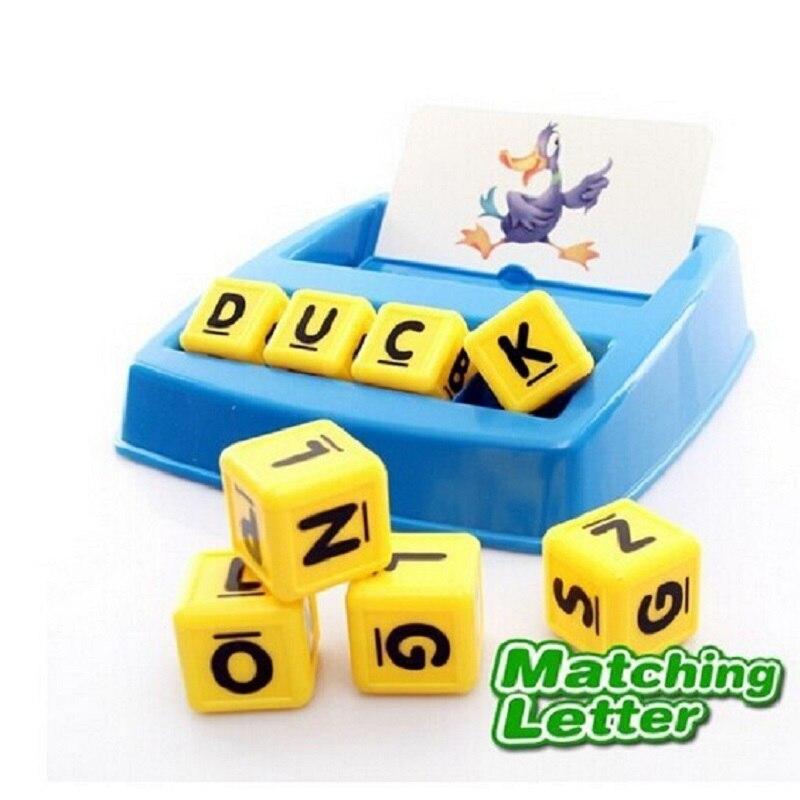 Sukitoy малыша буквы алфавита ABC соответствующие слово обучения настольные развивающие Игрушечные лошадки разноцветный игры с детьми 24*22*4 см