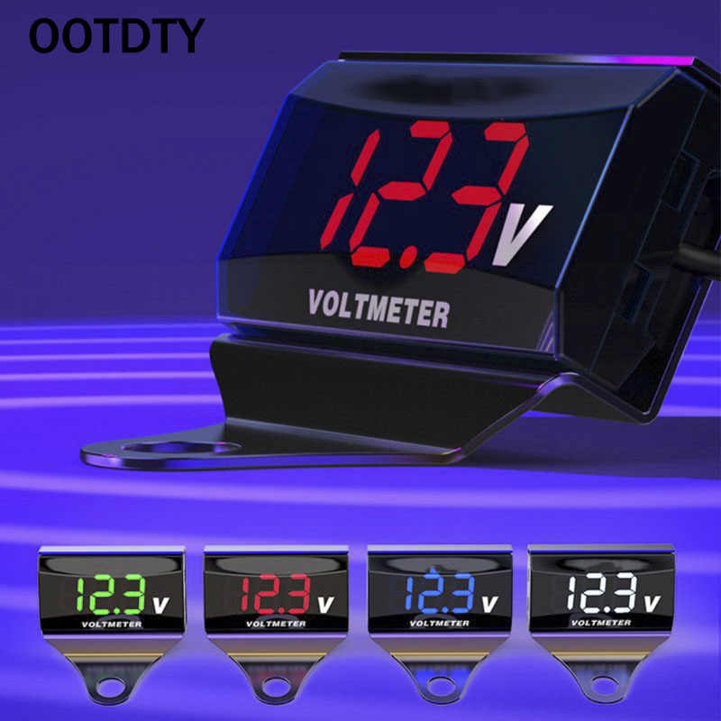 8V-150V LED Digital Display Voltmeter Car Motorcycle Voltage Volt Gauge Panel Meter With Bracket