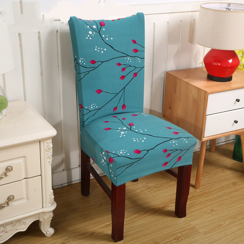 Beach Style Printing Dining Chair Cover Removable Elastic Seat Chair Protector For Hotel Banquet Home Wedding Decoration in Chair Cover from Home Garden
