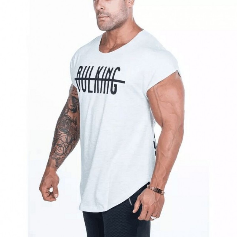2019 fashion gyms Brand singlet canotte bodybuilding stringer   tank     top   men fitness vest muscle guys sleeveless vest