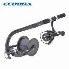 Ecooda linha de pesca spooler enrolador carretel portátil estação spooling sistema para fiação ou baitcasting carretel de pesca linha