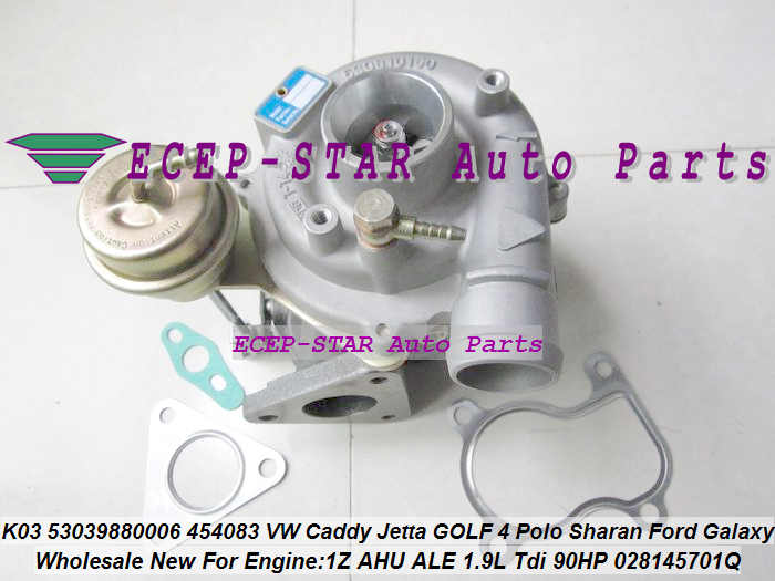 K03 53039880006 53039880006 454083-0002 454083 028145701Q Турбокомпрессор 《 Ford Galaxy VW Caddy Golf 3 4 Sharan Vento 1Z AHU ALE 1.9L