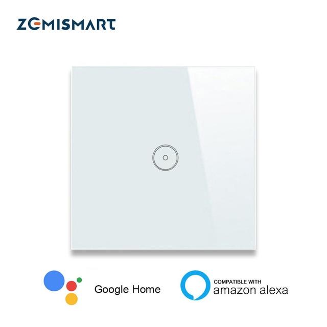 Hogar inteligente de la UE 1 2 3 banda Wifi interruptor de pared Alexa Google tuya APP luz de Control remoto panel