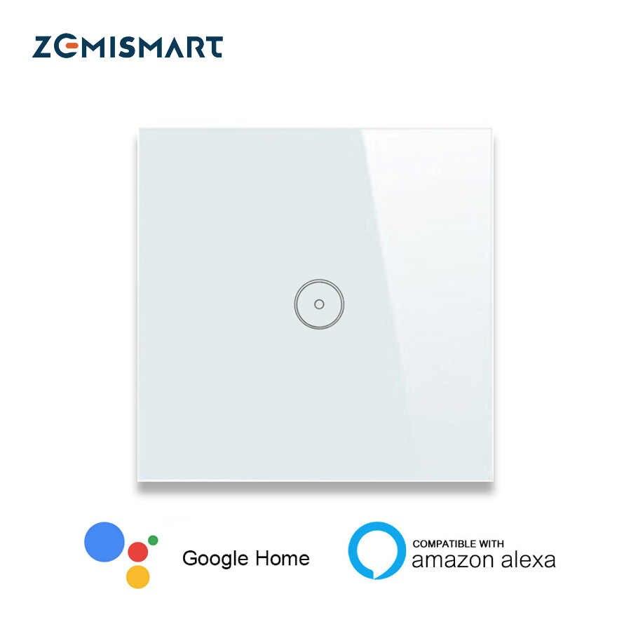 Inteligentny dom ue 1 Gang 2 Gang 3 Gang Wifi ściany przełącznik Alexa Google domu tuya APP pilot zdalnego sterowania panel