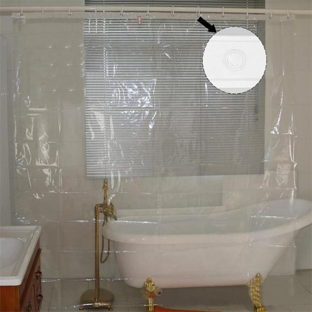New Fashion Transparent Mildew Proofing Shower Curtain Waterproof Bath Curtain Bathroom Products Home Merchandises Wholesale