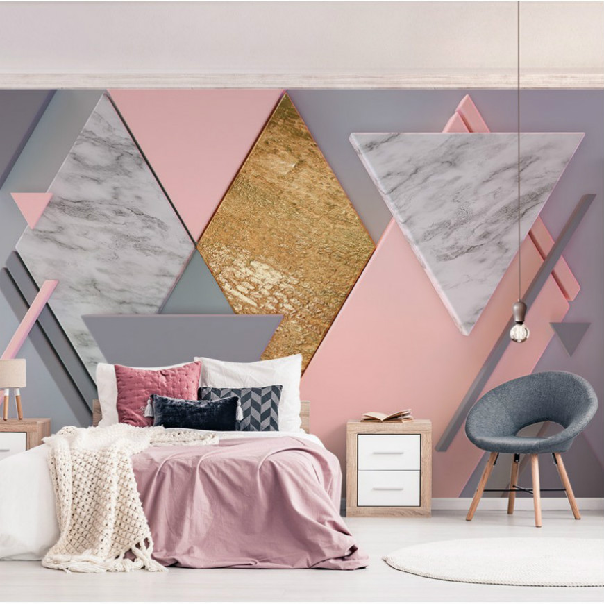Free Shipping 3d Marble Surface Wall Triangle Rhombus Geometric Pattern Bedroom Living Room Background Wallpaper 10 20feet 300 600cm photography background boats dock house wallpaper free shipping