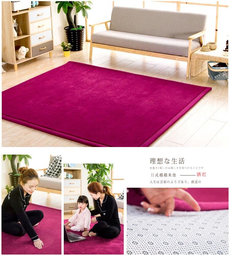 Baby Play Mat Coral Velvet Antiskid Design Crawling Mat  Baby Carpet Mat for Children Game Pad Super Soft Comfortable Playmat  (6)