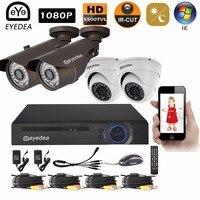 Eyedea 8 CH Surveillance DVR NVR Video Recorder 2 0MP 5500TVL CMOS Bullet Dome Outdoor Night