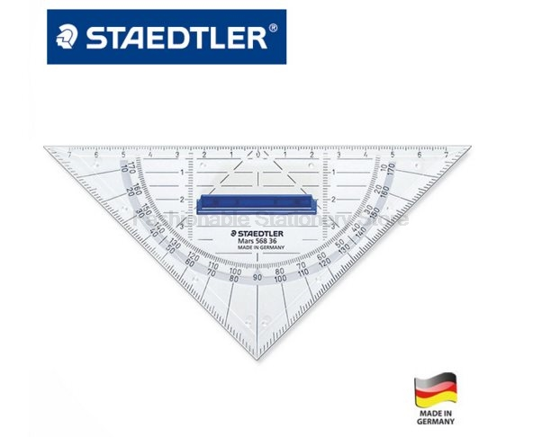 STAEDTLER 568 36 16cm geometric | drawing triangular plate Stationery Office accessories School supplies chromaphilia the story of colour in art