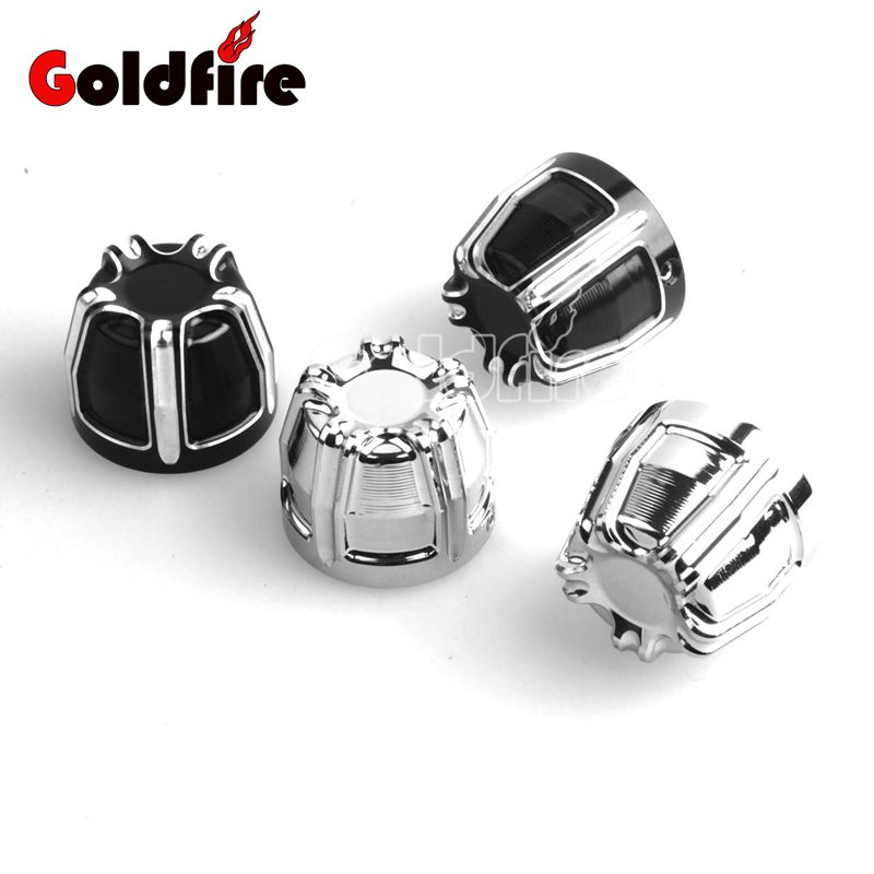 Motorcycle CNC 10-Gauge Front Axle Nut Cover Bolt Kit For Harley Dyna Fatboy V-Rod Dyna  ...