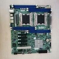 Gebruikt Originele X9DRL-IF C602 2011pin Dual Server Board Ondersteunt E5 2600 V2 Serie DDR3 2CPU Moederbord