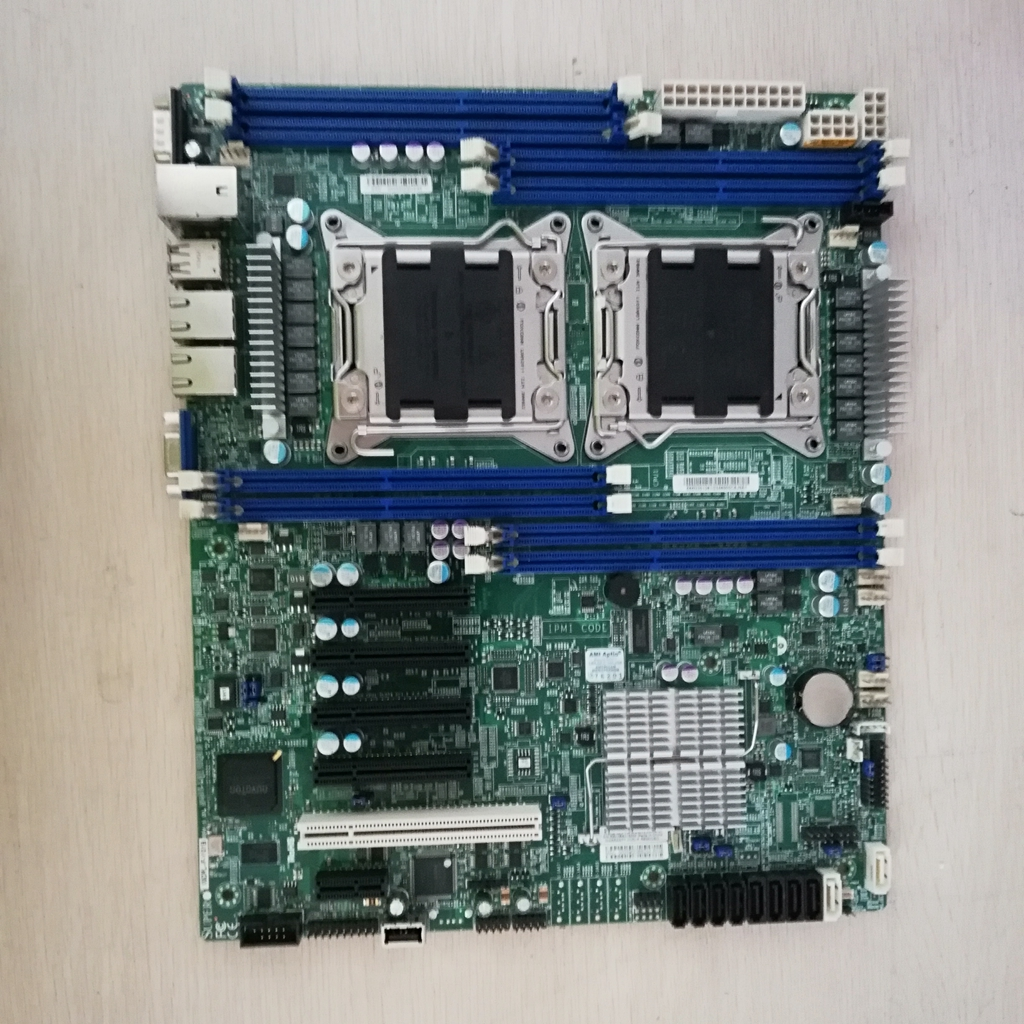 Used Original X9DRL-IF <font><b>C602</b></font> 2011pin dual server board supports E5 2600 V2 series DDR3 2CPU motherboard image