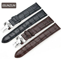 ISUNZUN Watch Band For Men And Momen For Tissot Gents T059507A 528A Black Leather Watch Strap Watches Accessories WatchBands